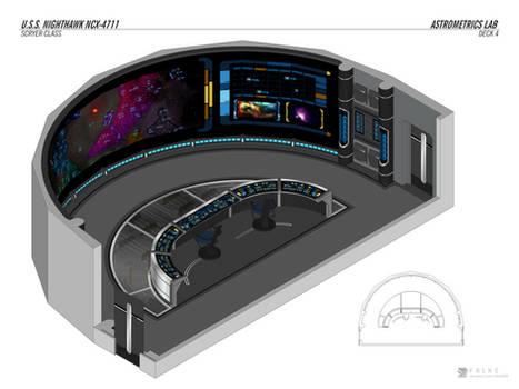 U.S.S. Nighthawk - Astrometrics Lab by falke2009