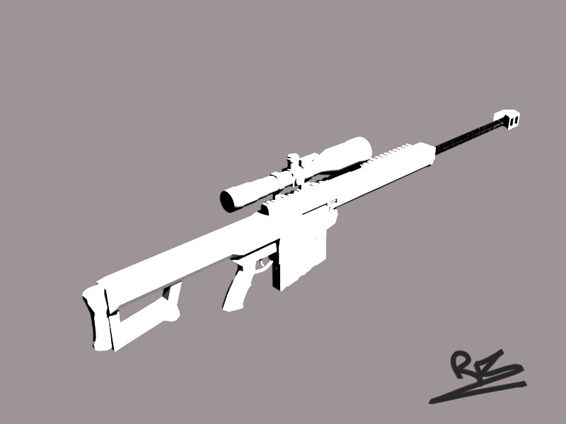Barrett 50 cal 3D model by St-Pete on DeviantArt