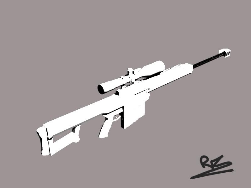 Barrett 50 cal 3D model by St-Pete on DeviantArt