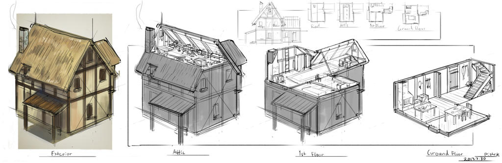 Medieval House Concept By St Pete On Deviantart