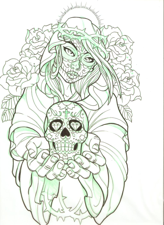 Los Muertos Mary by 5stardesigns