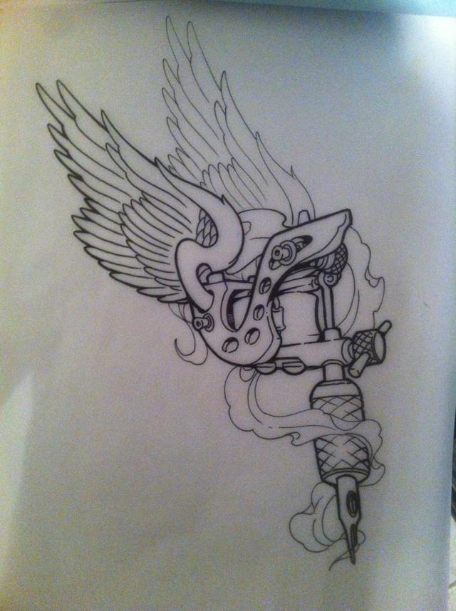 Tattoo machine by tatosXL on DeviantArt  |Tattoo Gun Drawing