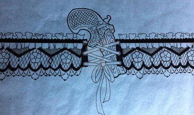 Garter belt and pistol leg piece by 5stardesigns on deviantart for Garter tattoo templates