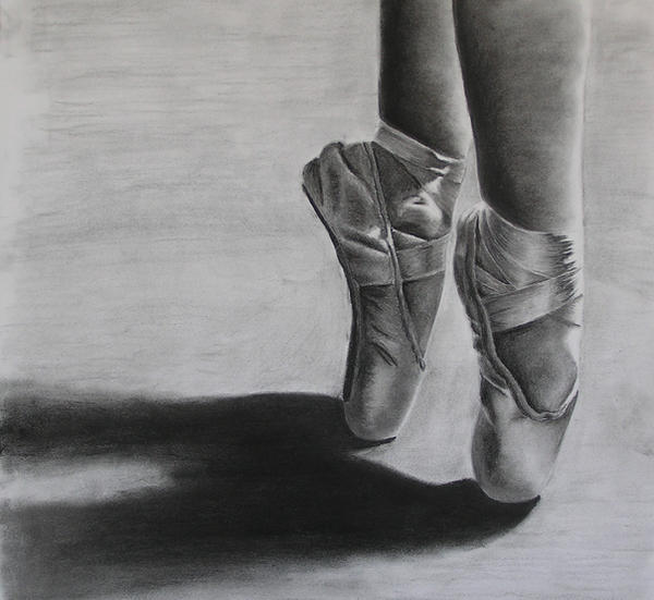 Black Pointe Shoes