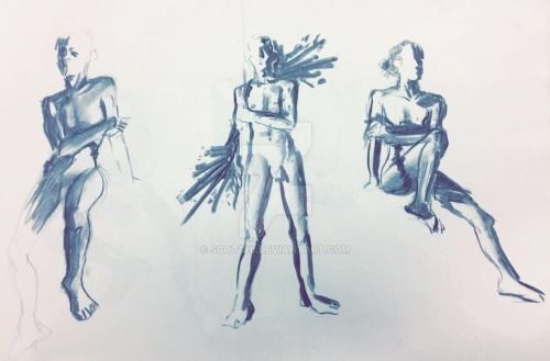 5 minute timed life drawings by scotchi