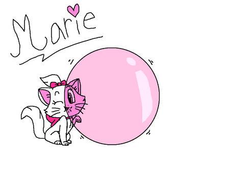 Marie Cat with Bubble Gum