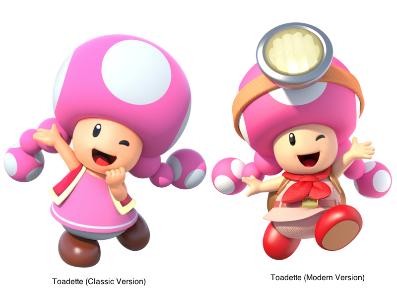 Toadette With Normal Wear Old And New By PokeGirlRULES