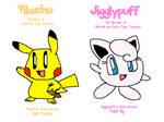 My Pokepals, Pikachu and Jigglypuff