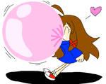 Mina's Gonna Blow a Bubble
