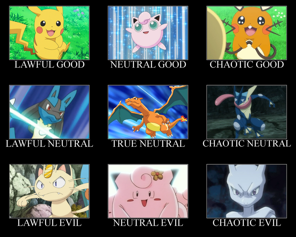 Alignment Chart Of Pikachu And Jigglypuff By PokeGirlRULES