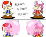 Toad and Toadete Chewing Gum Blow Bubbles (Pink)
