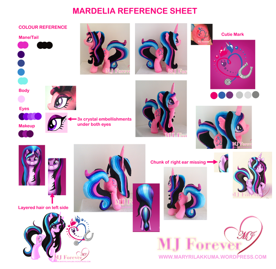Mardelia Character Reference Sheet :3 by moggymawee