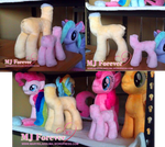Trying my hand at sewing pony plushies :3