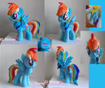 My first Rainbow Dash plushie (SOLD)
