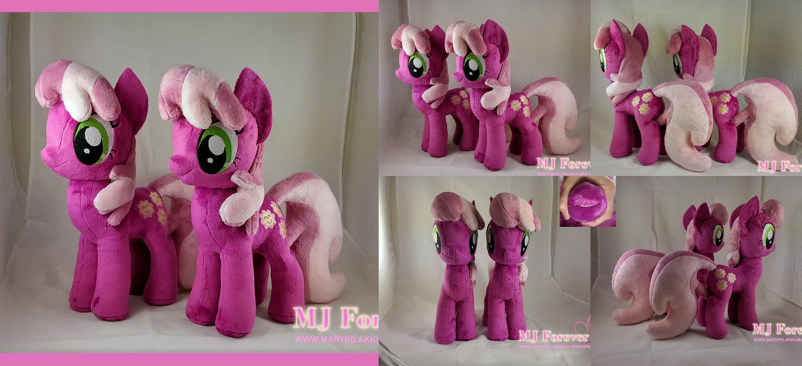 Cheerileeeee Plushieeeee x2!  :D (SOLD!) by moggymawee