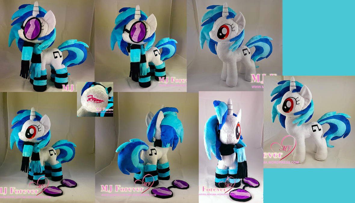 Vinyl Scratch/DJ Pon-3 Plushie (Commission) by moggymawee