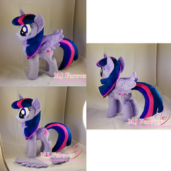 Twilight Sparkle plushie w removable wings (comm) by moggymawee