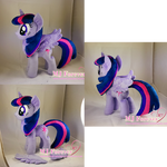 Twilight Sparkle plushie w removable wings (comm)
