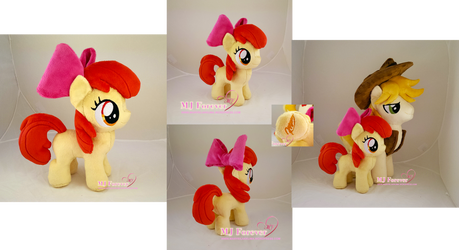Apple Bloom plushie v2.0 by moggymawee