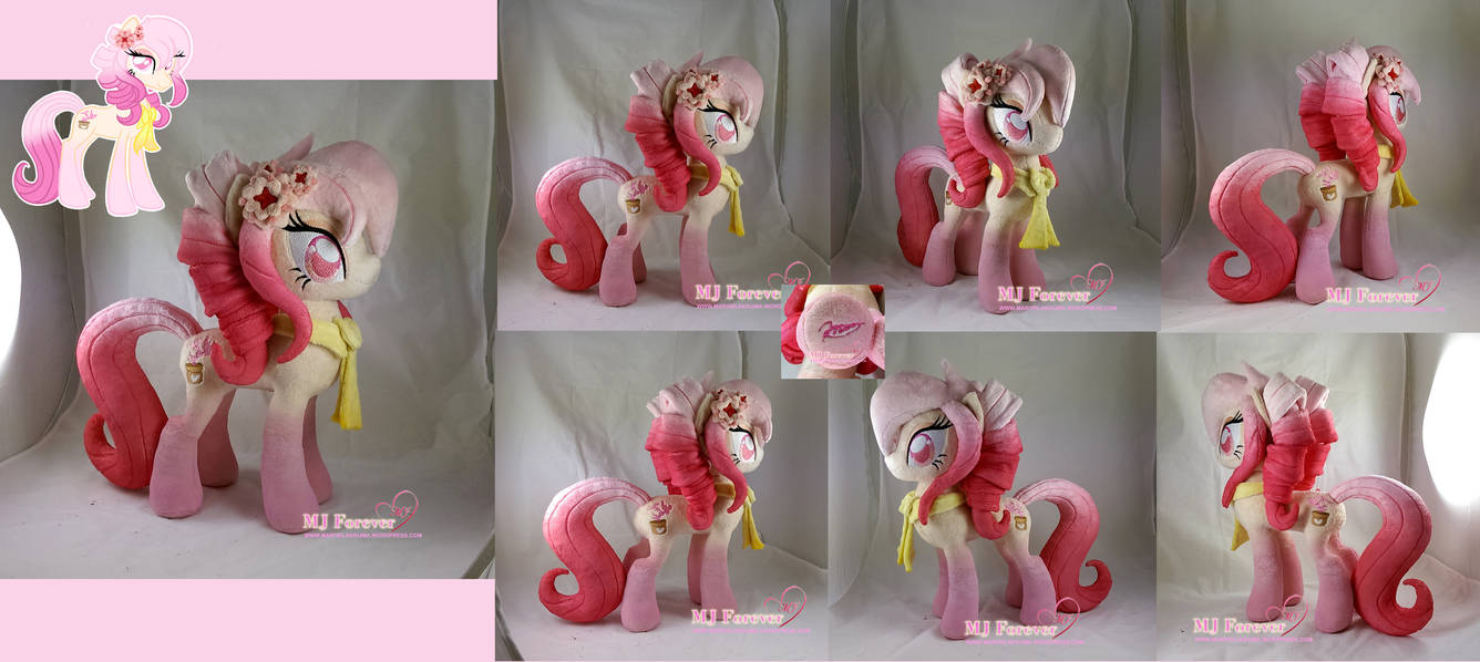 Autumn Orchid plushie!  (featured in DD!) by moggymawee