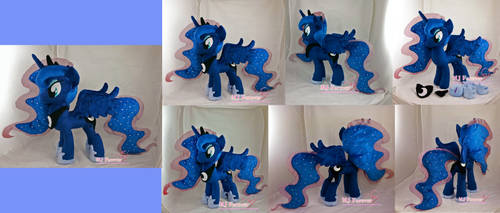 Princess Luna Plushie - SOLD! by moggymawee
