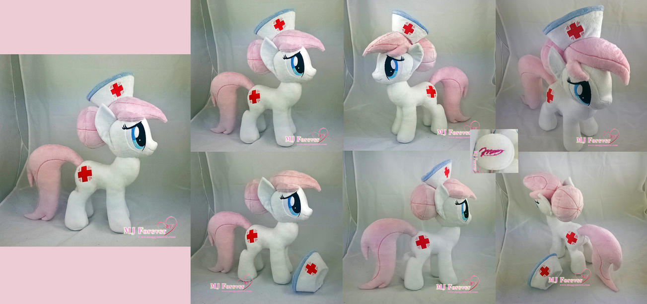 Nurse Redheart Plushie by moggymawee