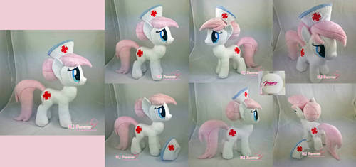 Nurse Redheart Plushie by moggymawee
