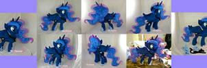 Princess Luna Plushie v2.0 by moggymawee