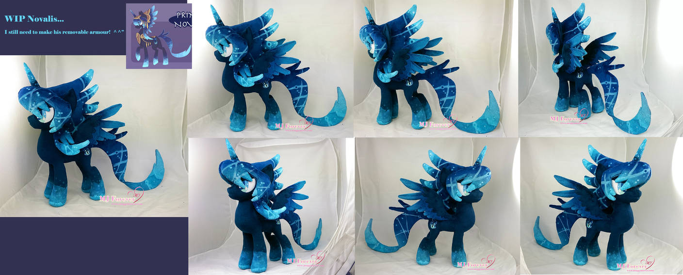 Work in progress - Novalis plush (contest prize) by moggymawee