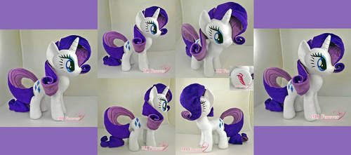 Rarity Plushie :) by moggymawee