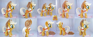 Applejack Plushie x2 (one is for sale!) by moggymawee
