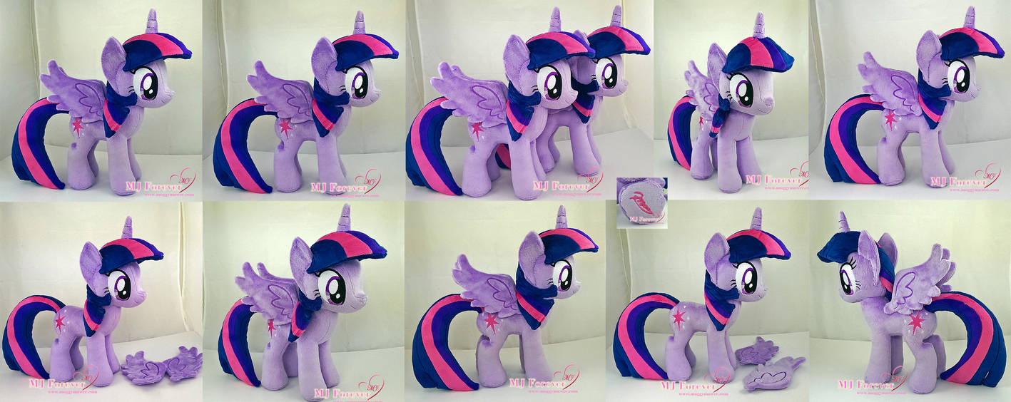 Twilight Sparkle Plushie x2 (one is for sale!) by moggymawee