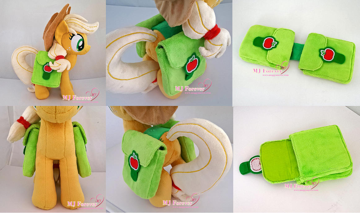 Commission: Applejack saddlebags by moggymawee