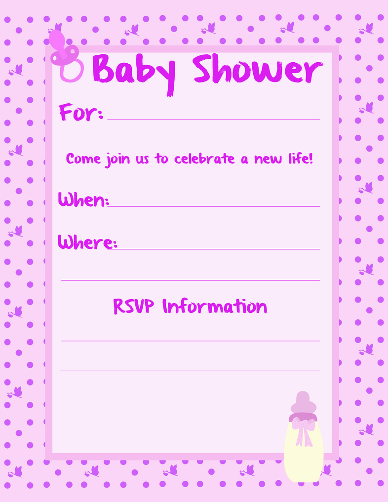 Baby Girl Shower Invite by ebojf