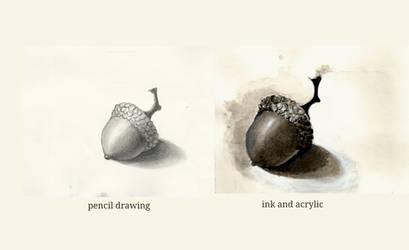 Ink wash - value study
