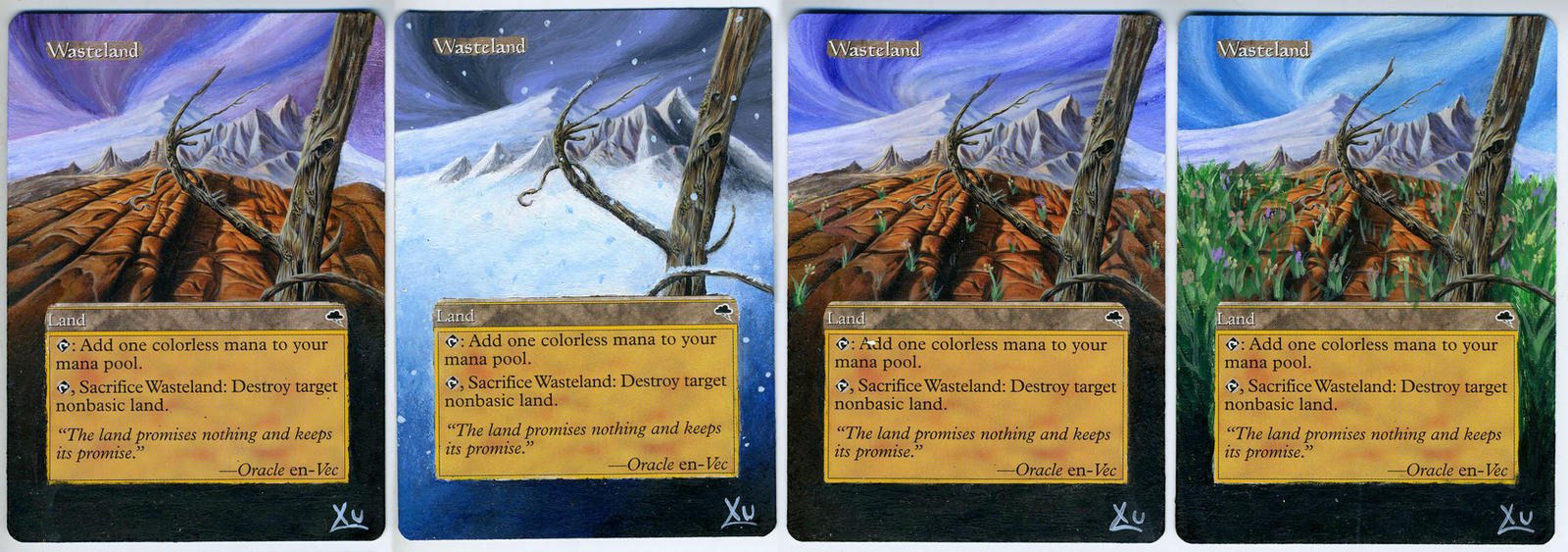 MTG Altered Art: Wasteland - Four Seasons by LXu777
