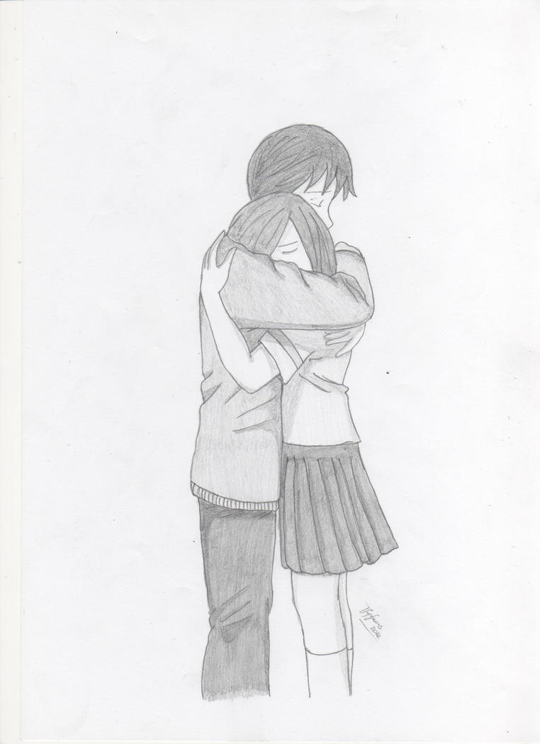 Sketches Of Couples Hugging Cute Couple Drawings H...