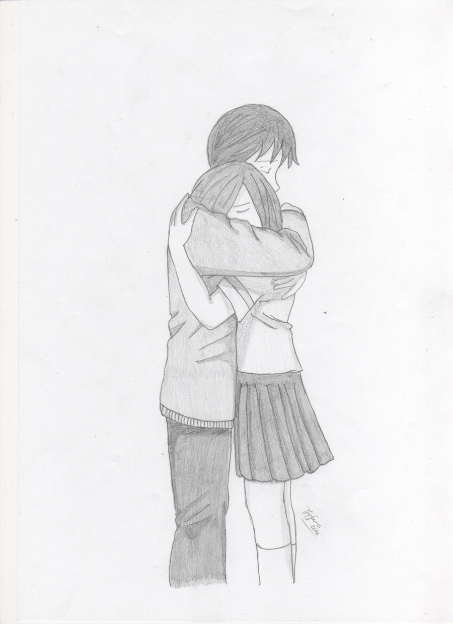 Hugging Couple Drawing Scetch 1 : Couple Hugg...