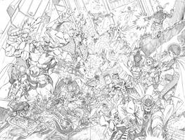 Wildcats 19 spread Pencils by ColtNoble
