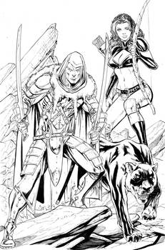 DRIZZT, CATTI and GUEN