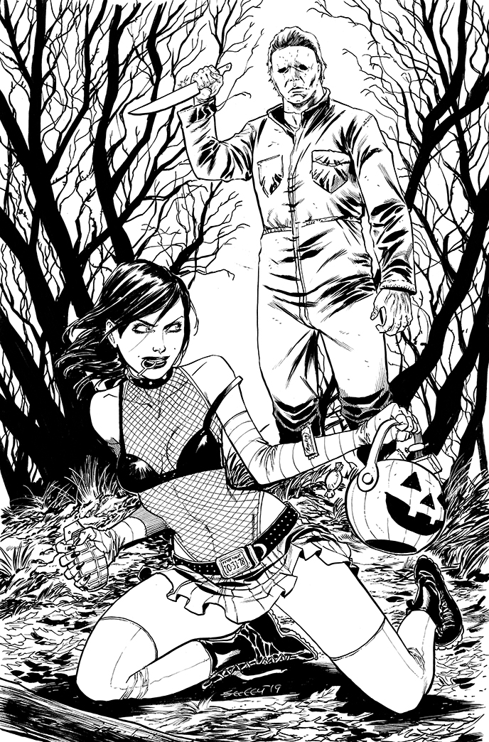 CASSOWEEN 2018 inks by ColtNoble