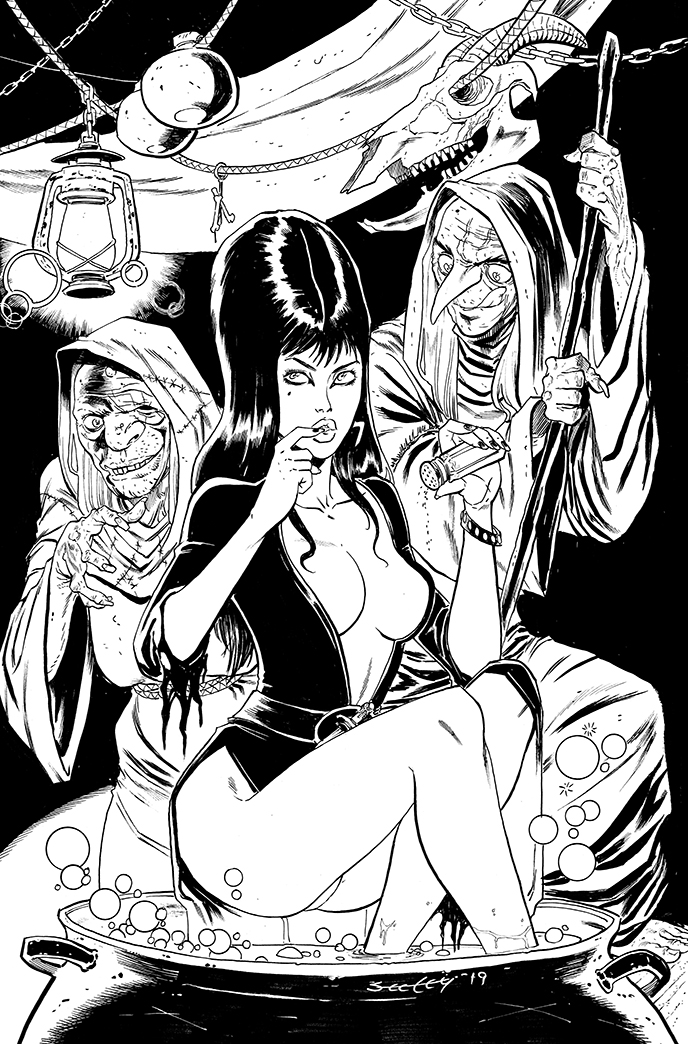 ELVIRA cover inks SEELEY by ColtNoble