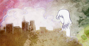 Breathing in fumes
