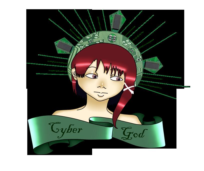 Lain Cybe God by Yani-Emi
