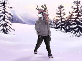 Walking in the Snow - Comm by Acry-Artwork