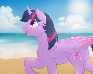 Twilight at the Beach 2019 by Acry-Artwork