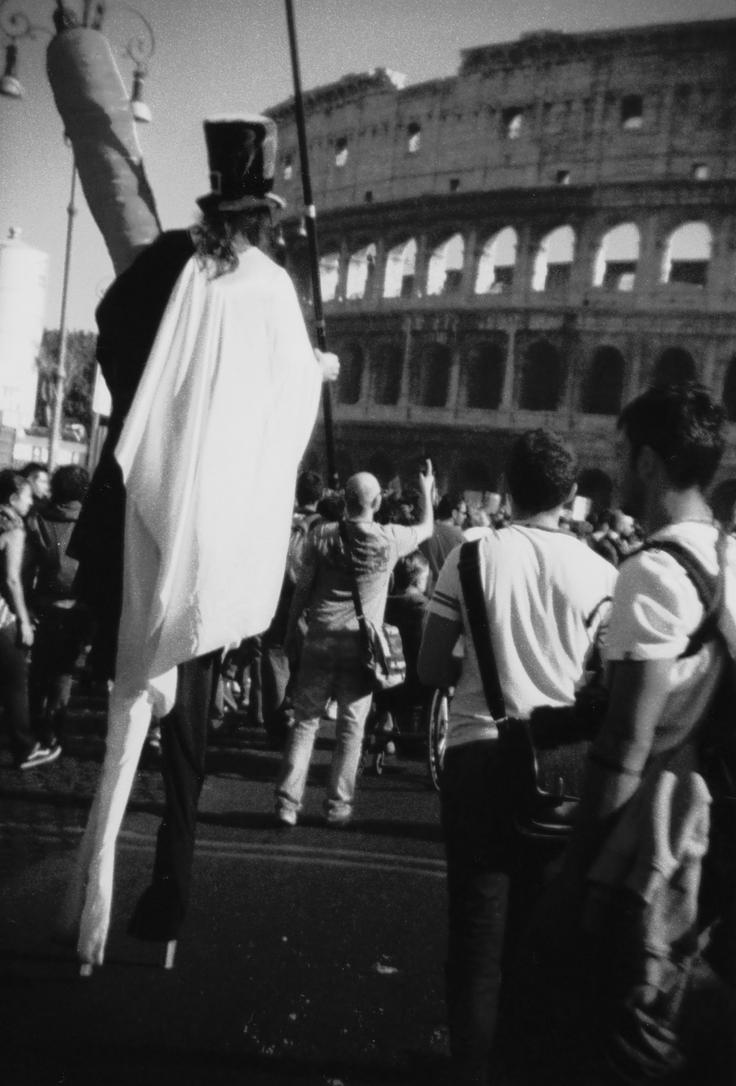 Carrot man at Colosseum by darianthea