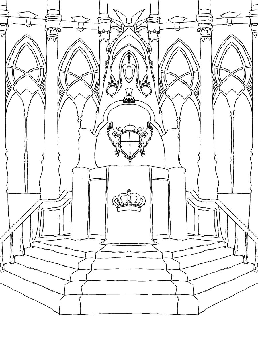 how to draw a throne easy