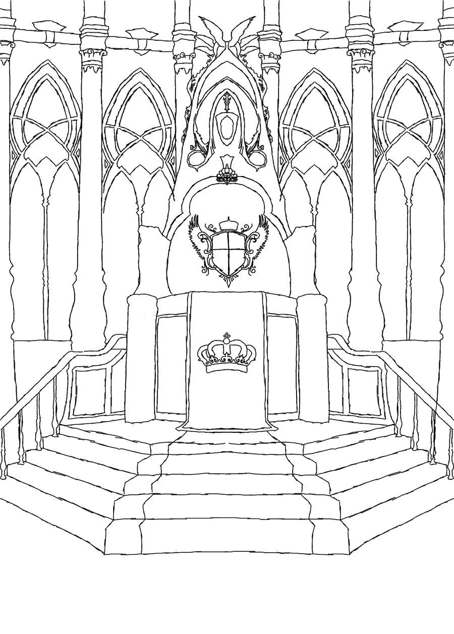 Kings Throne Drawing Throne Drawing Throne Room