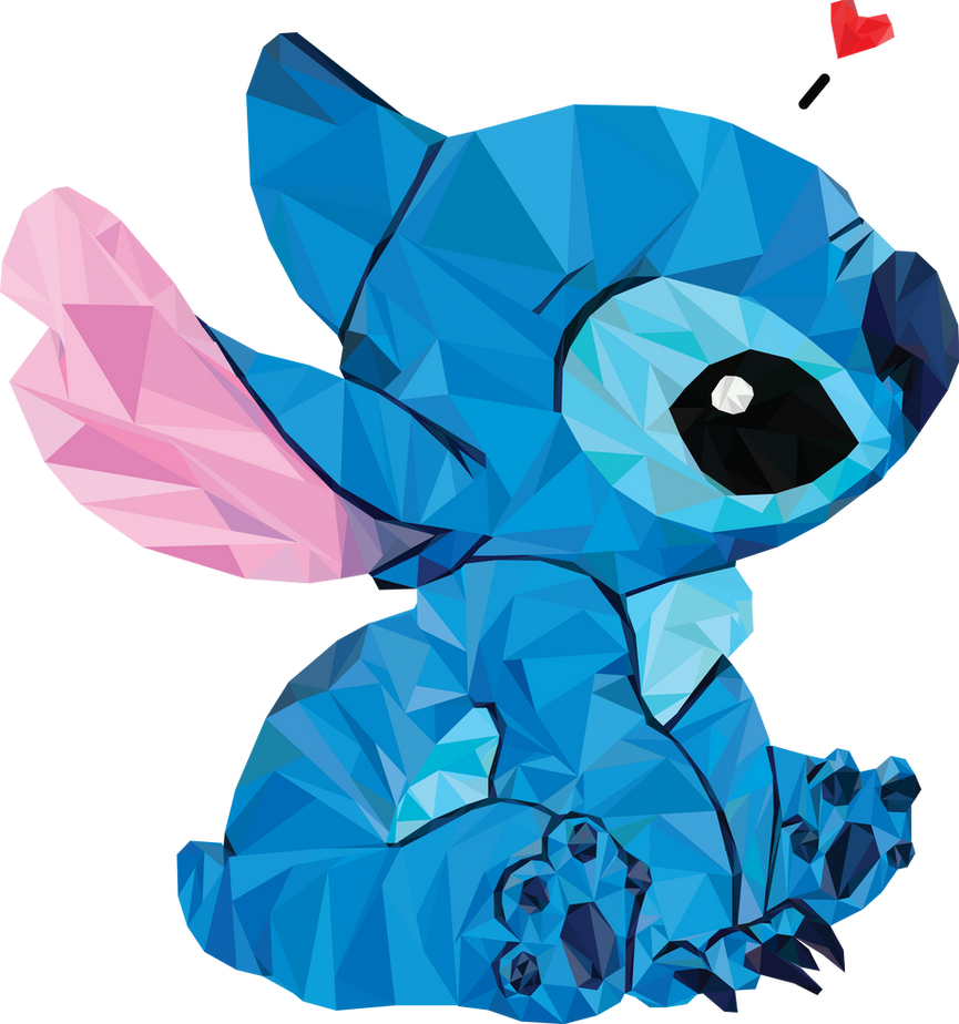 Stitch Low Poly by Kisaragi-Zeet